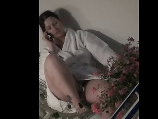 spy bbw milf after watch wank flash at the balcony(part2)