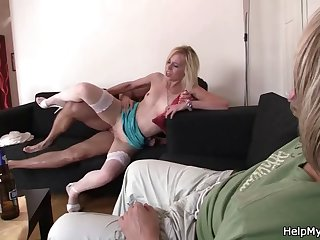 hubby watching his wife fuck with another man