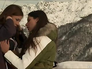 lesbian sex in the snow with amazing beauties