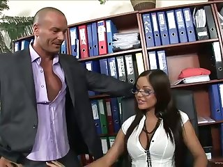 gorgeous boss rides her assistant's big cock