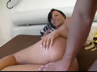 sexy brunette woke up from big cock in the ass