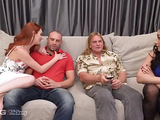 trickery - bored wifes sheena ryder and lacy lennon swap men