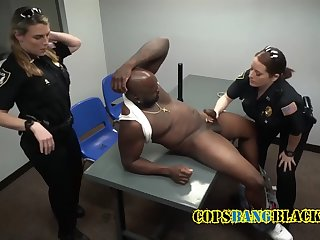dirty uniformed brunette choosing which dick to ride