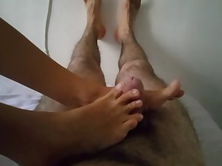 sexy naturel toes great footjob